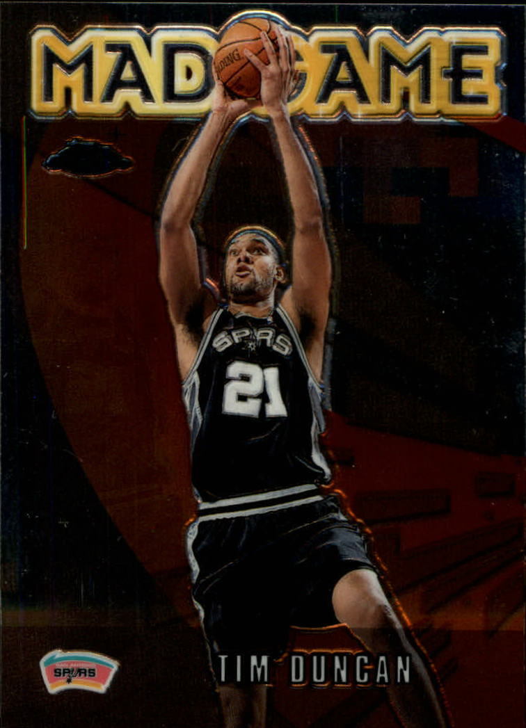 2001-02 Topps Chrome Mad Game #MG3 Tim Duncan