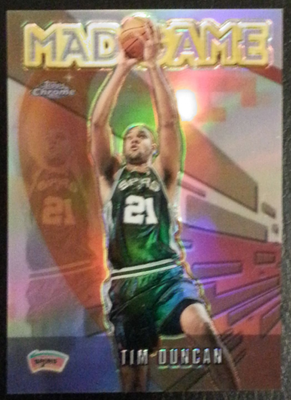 2001-02 Topps Chrome Mad Game Refractors #MG3 Tim Duncan