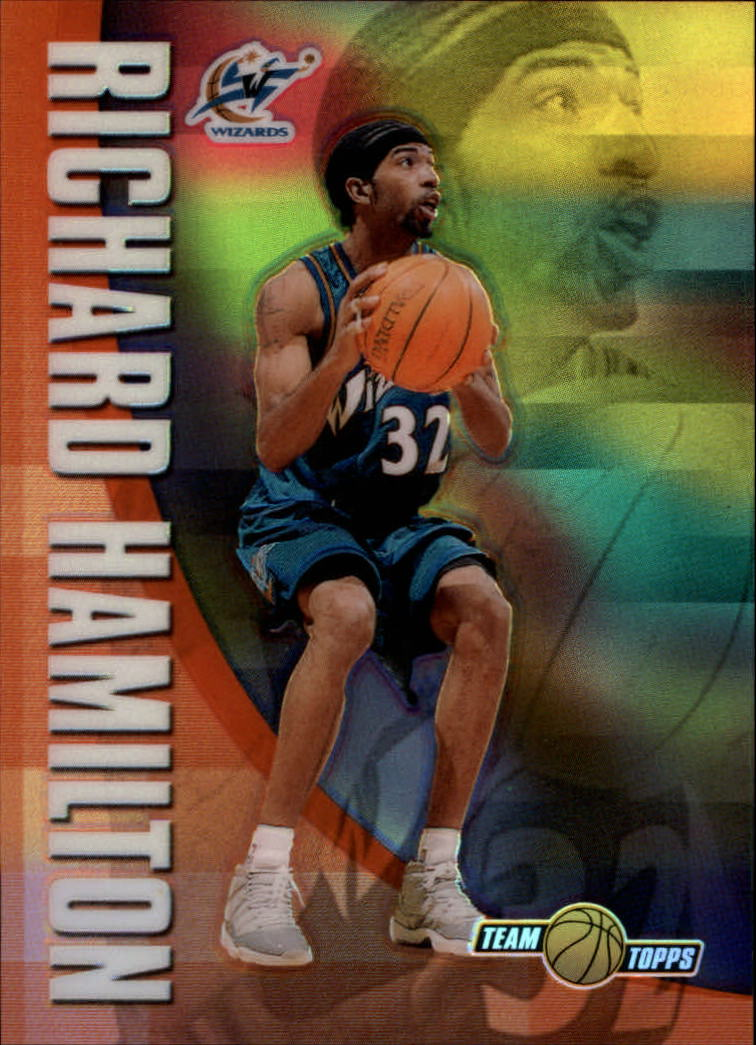 2001-02 Topps Chrome Team Topps Refractors #TT8 Richard Hamilton