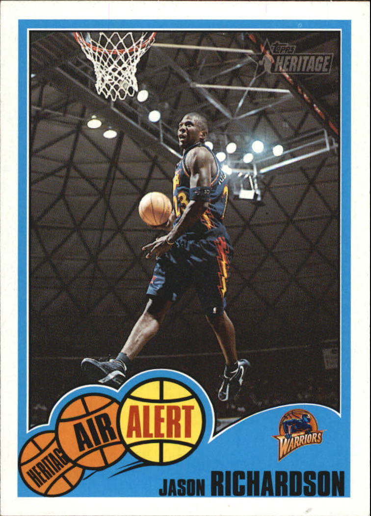 2001-02 Topps Heritage Air Alert #12 Jason Richardson