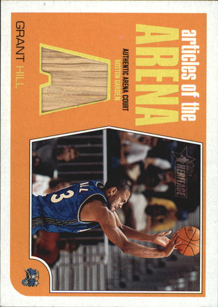 2001-02 Topps Heritage Articles of the Arena Relics #6 Grant Hill