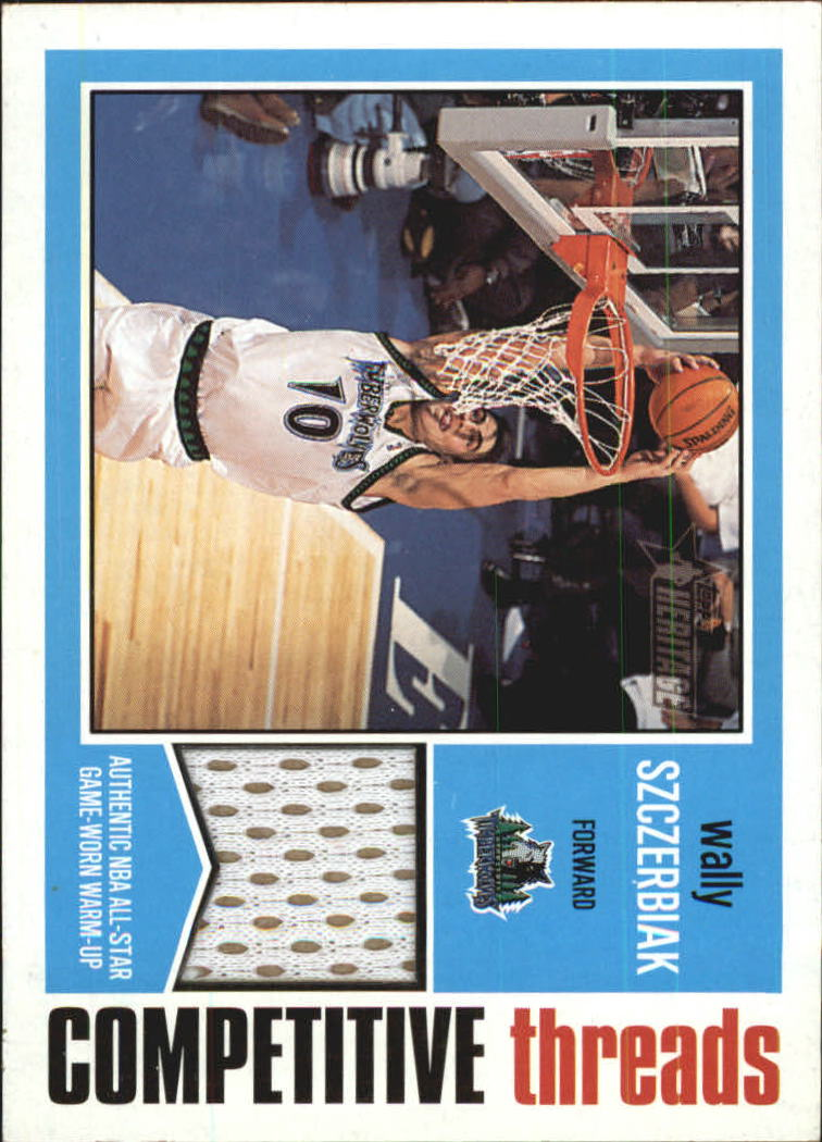 2001-02 Topps Heritage Competitive Threads #15 Wally Szczerbiak