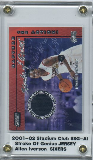 2001-02 Stadium Club Stroke of Genius #SGAI Allen Iverson