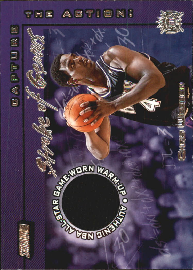 2001-02 Stadium Club Stroke of Genius #SGCW Chris Webber