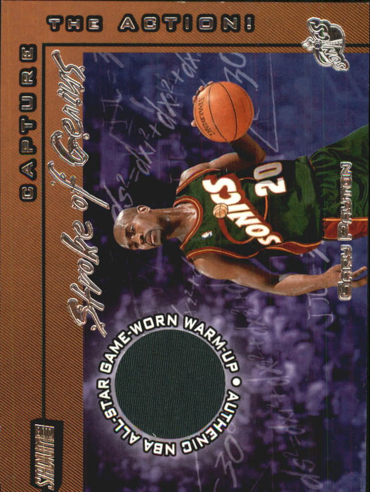 2001-02 Stadium Club Stroke of Genius #SGGP Gary Payton