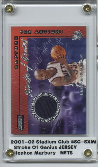 2001-02 Stadium Club Stroke of Genius #SGSXM Stephon Marbury