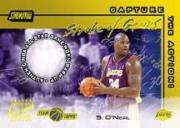 2001-02 Stadium Club Stroke of Genius Autographs #SGASO Shaquille O'Neal/34