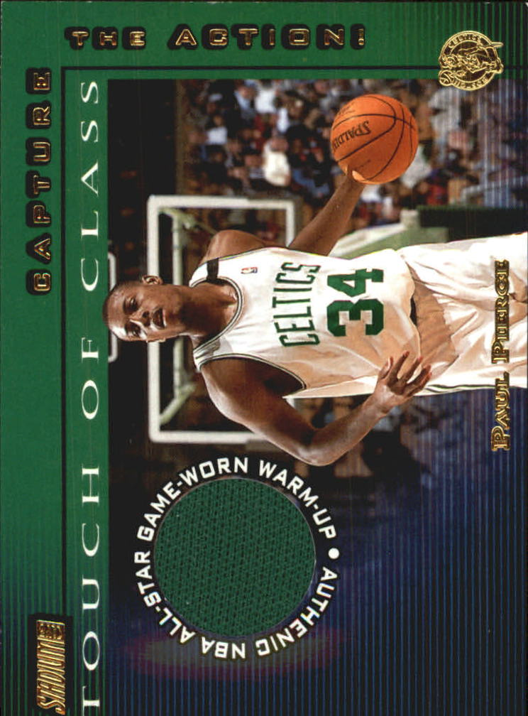 2001-02 Stadium Club Touch of Class #TCPP Paul Pierce