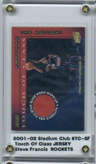 2001-02 Stadium Club Touch of Class #TCSF Steve Francis