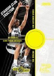 2001-02 Stadium Club Traction Autographs #TTD Tim Duncan/21