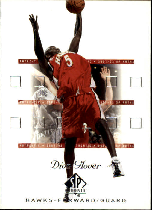 2001-02 SP Authentic #3 Dion Glover