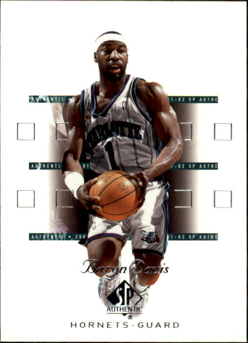 2001-02 SP Authentic #7 Baron Davis