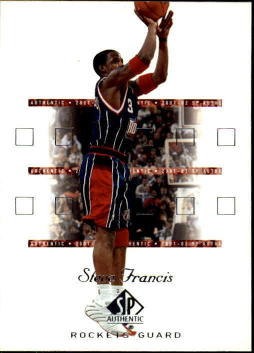 2001-02 SP Authentic #29 Steve Francis