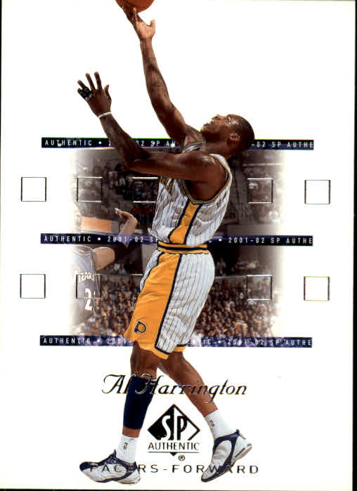 2001-02 SP Authentic #32 Al Harrington
