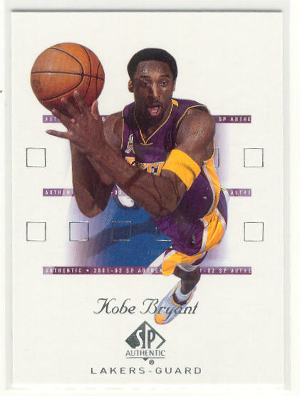2001-02 SP Authentic #38 Kobe Bryant