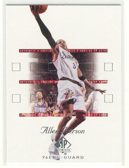 2001-02 SP Authentic #64 Allen Iverson