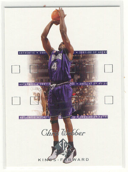 2001-02 SP Authentic #73 Chris Webber