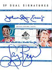 2001-02 SP Authentic Dual Signatures #DR/LB Julius Erving/Larry Bird