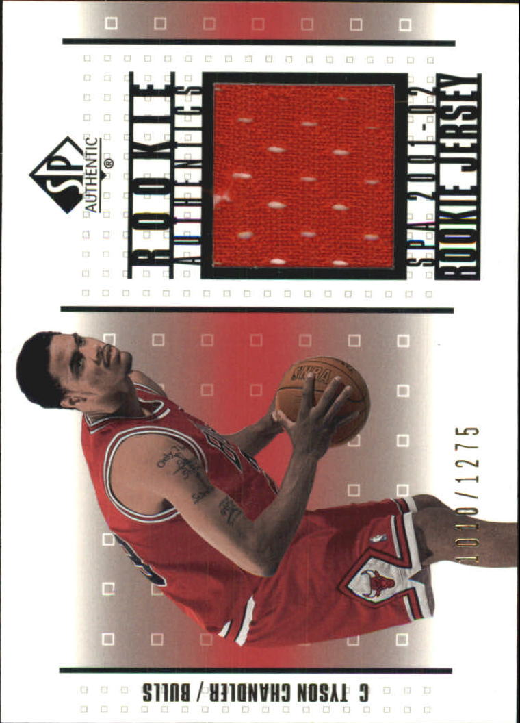 2001-02 SP Authentic Rookie Authentics #RATC Tyson Chandler