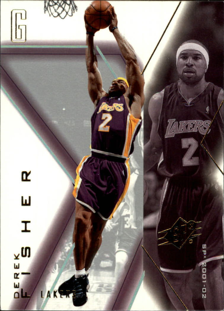 2001-02 SPx #41 Derek Fisher