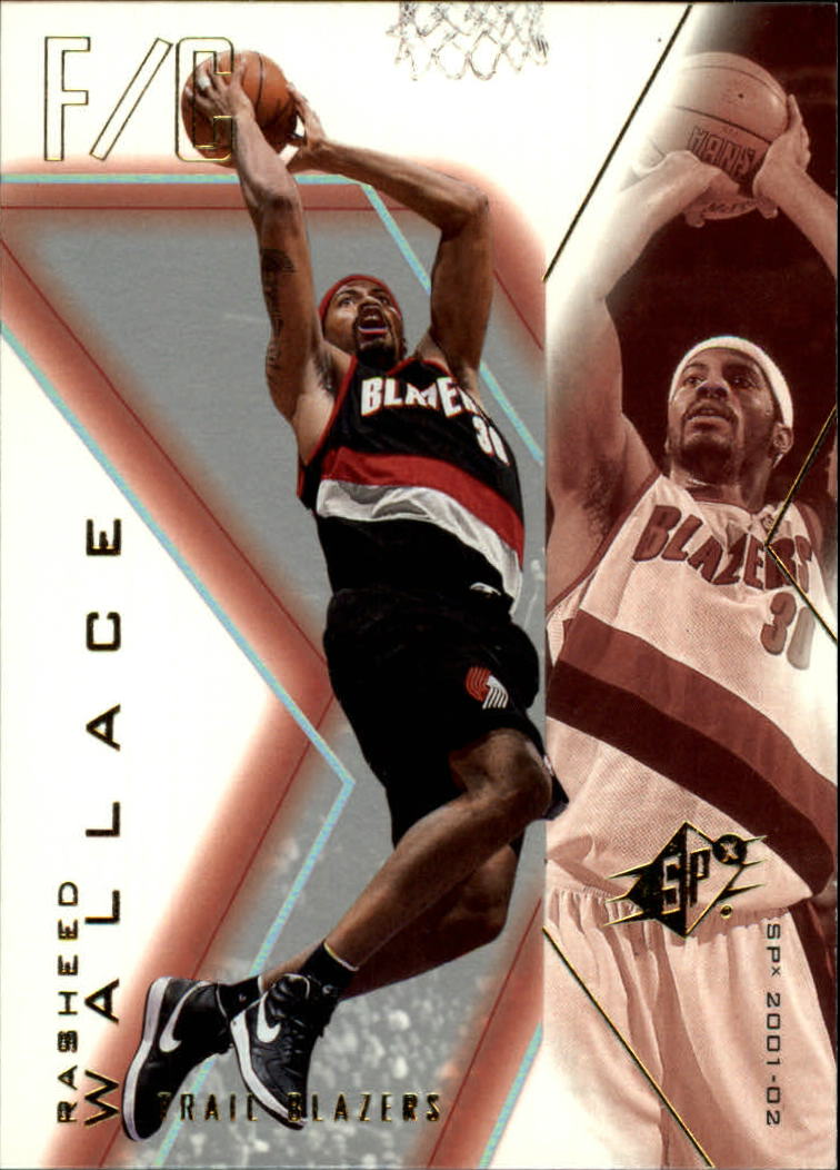 2001-02 SPx #70 Rasheed Wallace