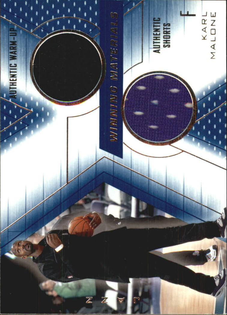 2001-02 SPx Winning Materials #KM2 Karl Malone WU/Shorts