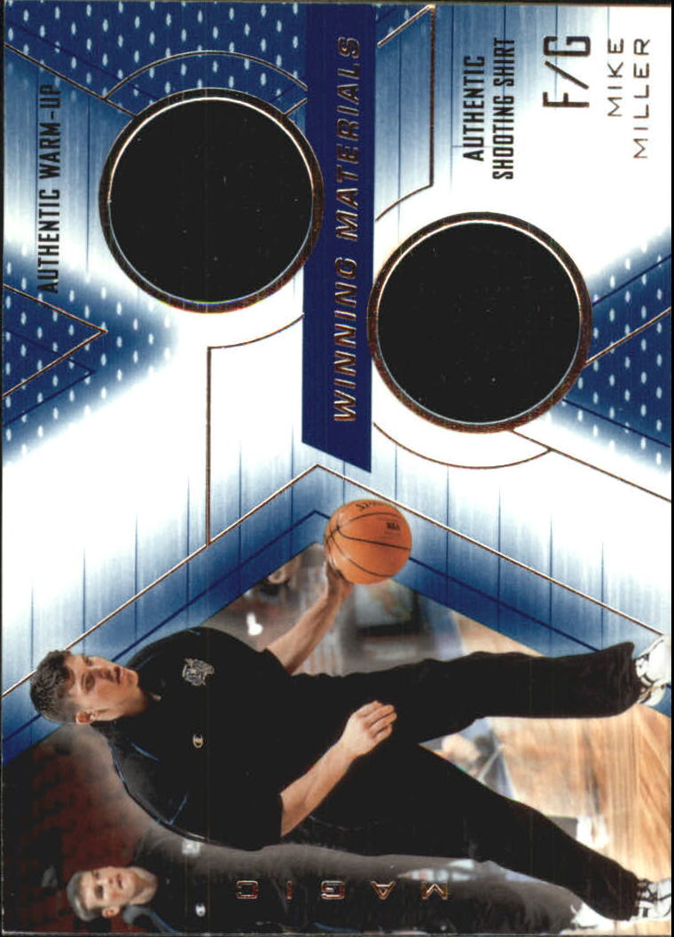 2001-02 SPx Winning Materials #MM Mike Miller WU/Shirt