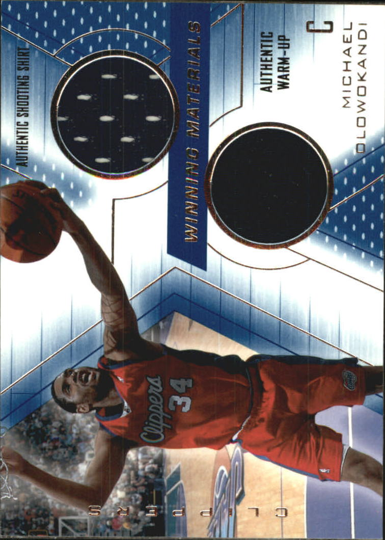 2001-02 SPx Winning Materials #MO Michael Olowokandi Shirt/WU