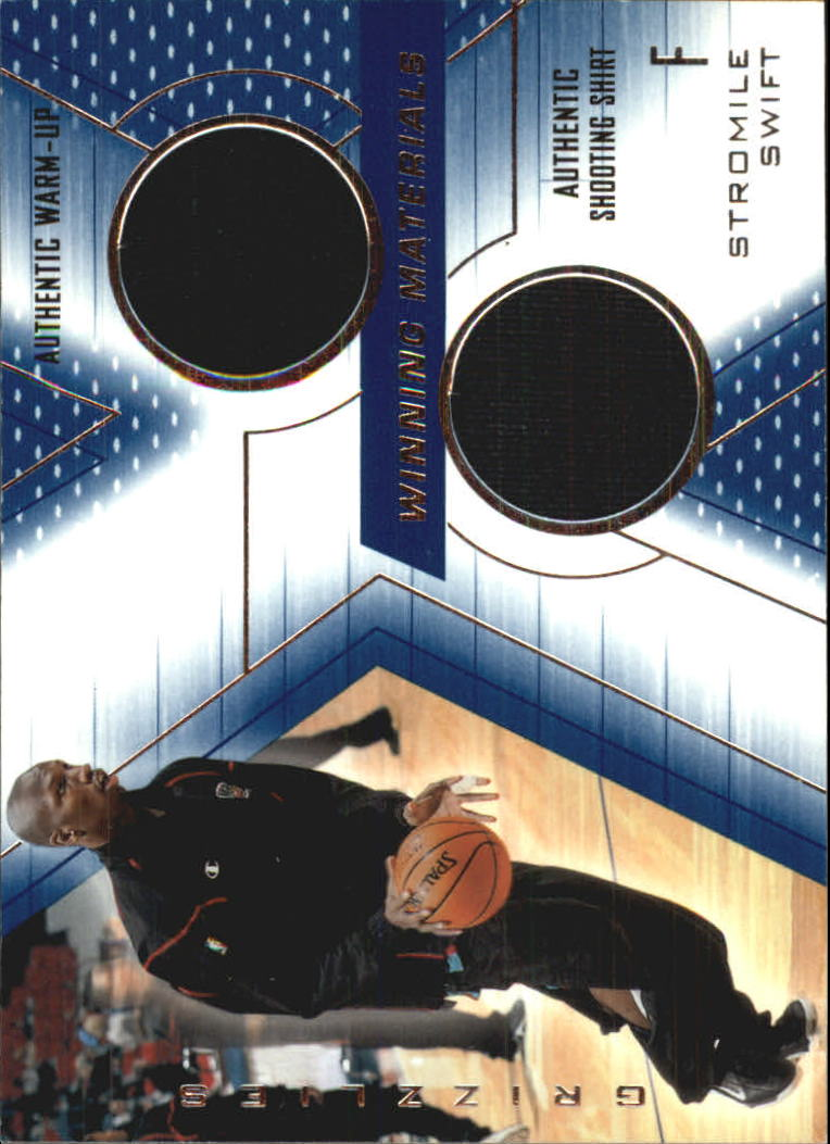 2001-02 SPx Winning Materials #SS Stromile Swift WU/Shirt