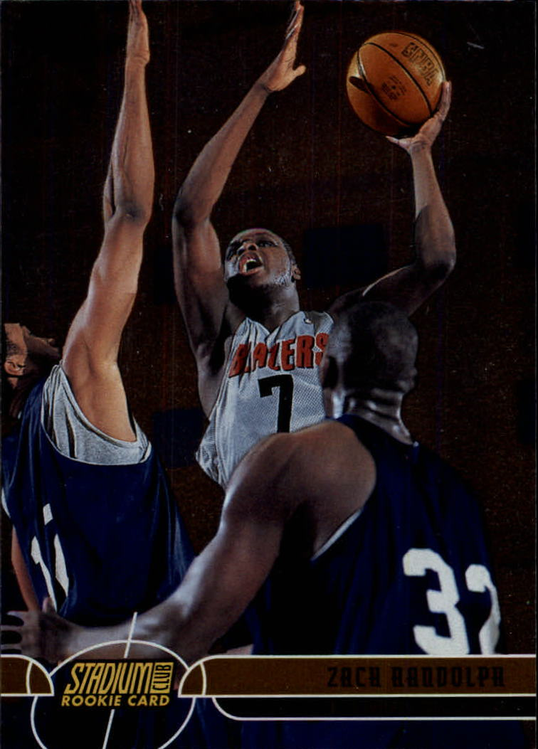 2001-02 Stadium Club #119 Zach Randolph RC