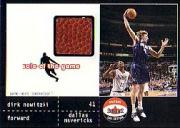 2001-02 Fleer Shoebox Sole of the Game Ball #8 Dirk Nowitzki