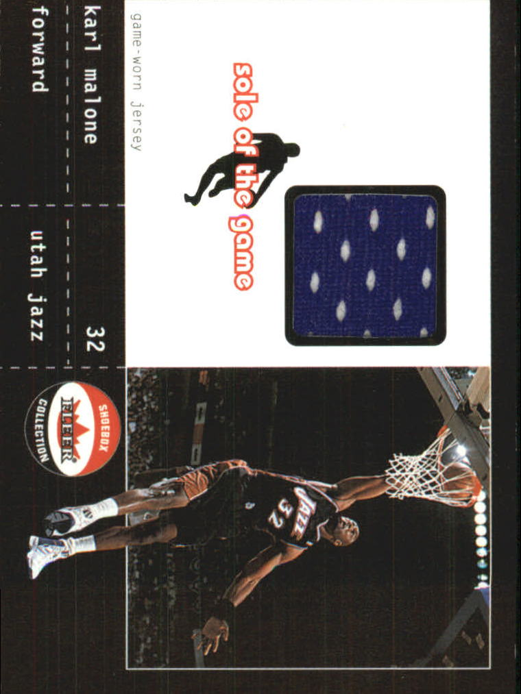 2001-02 Fleer Shoebox Sole of the Game Jersey #6 Karl Malone