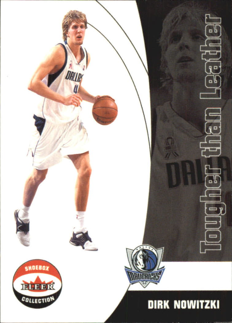 2001-02 Fleer Shoebox Tougher Than Leather #5 Dirk Nowitzki