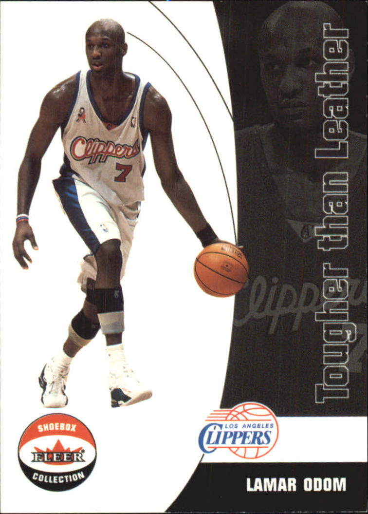 2001-02 Fleer Shoebox Tougher Than Leather #20 Lamar Odom