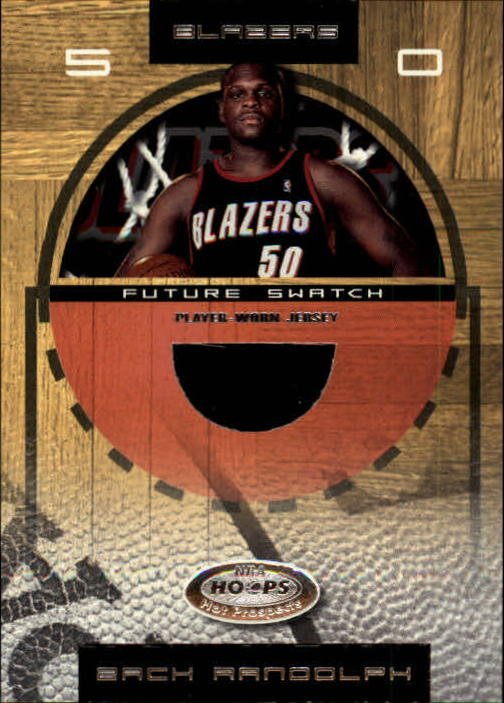 2001-02 Hoops Hot Prospects #99 Zach Randolph JSY RC