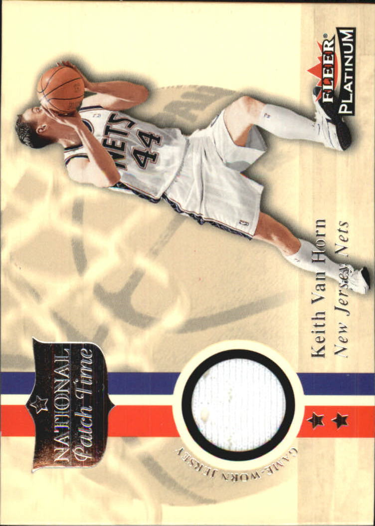 2001-02 Fleer Platinum National Patch Time #7 Keith Van Horn