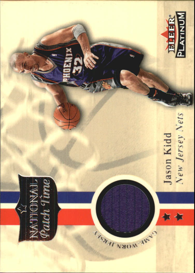 2001-02 Fleer Platinum National Patch Time #12 Jason Kidd
