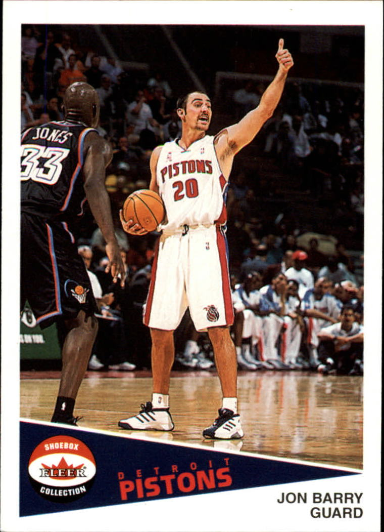 2001-02 Fleer Shoebox #16 Jon Barry