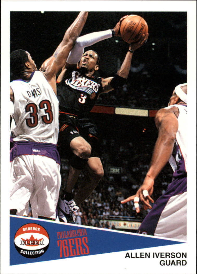 2001-02 Fleer Shoebox #28 Allen Iverson