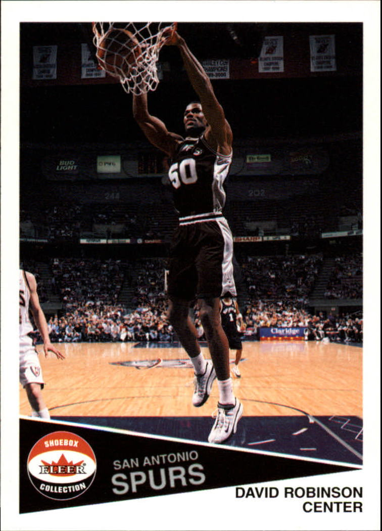 2001-02 Fleer Shoebox #31 David Robinson