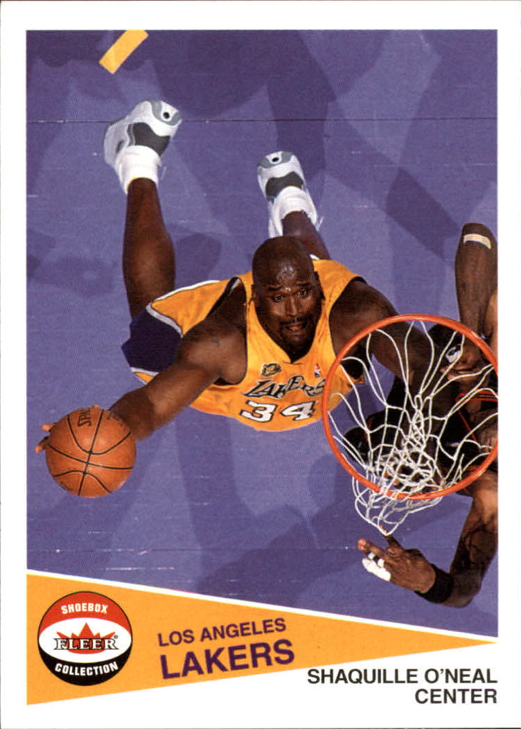 2001-02 Fleer Shoebox #35 Shaquille O'Neal