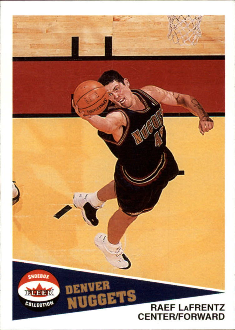 2001-02 Fleer Shoebox #39 Raef LaFrentz