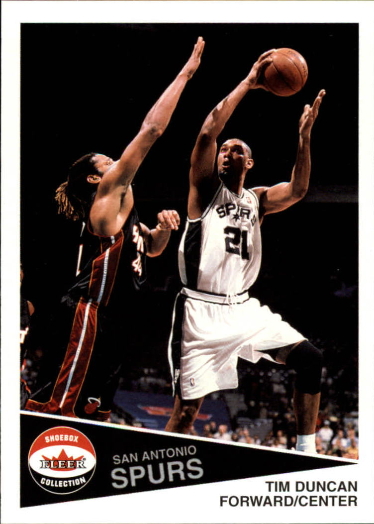 2001-02 Fleer Shoebox #48 Tim Duncan