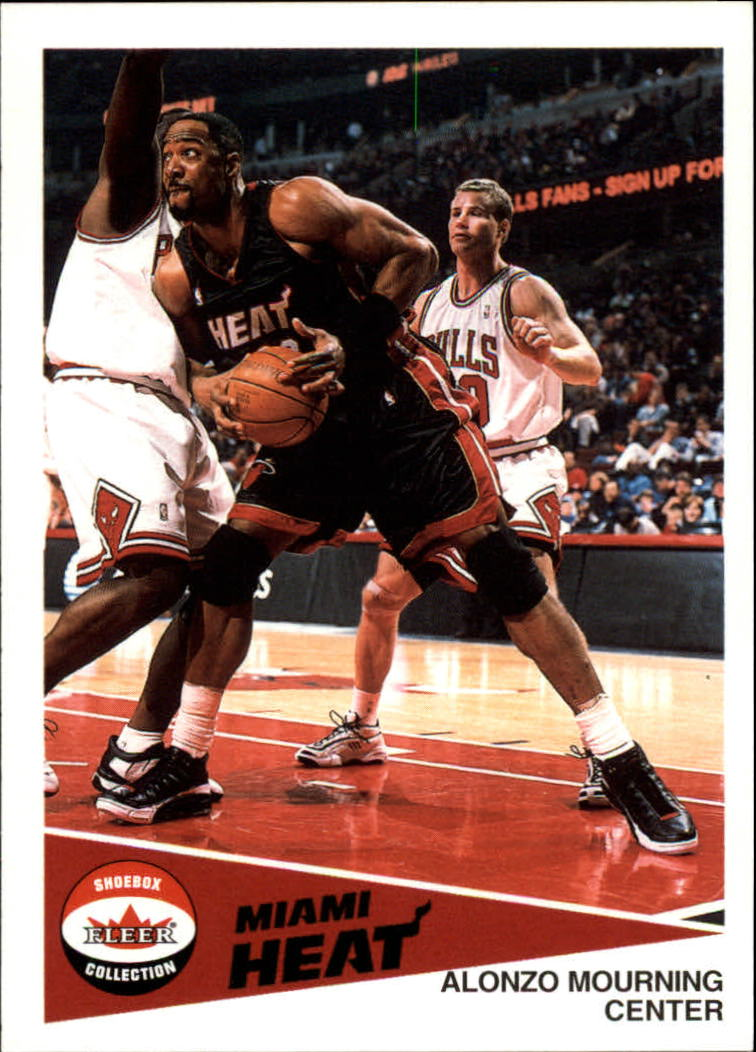 2001-02 Fleer Shoebox #58 Alonzo Mourning