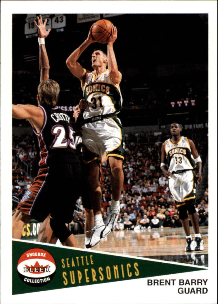 2001-02 Fleer Shoebox #60 Brent Barry
