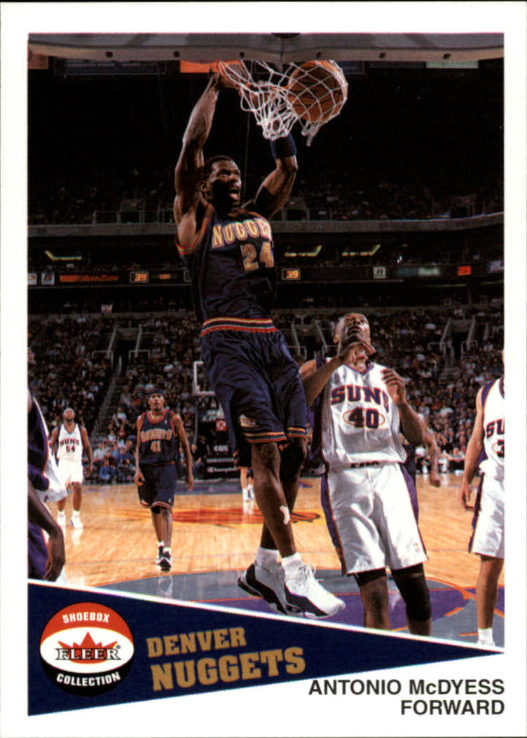 2001-02 Fleer Shoebox #63 Antonio McDyess