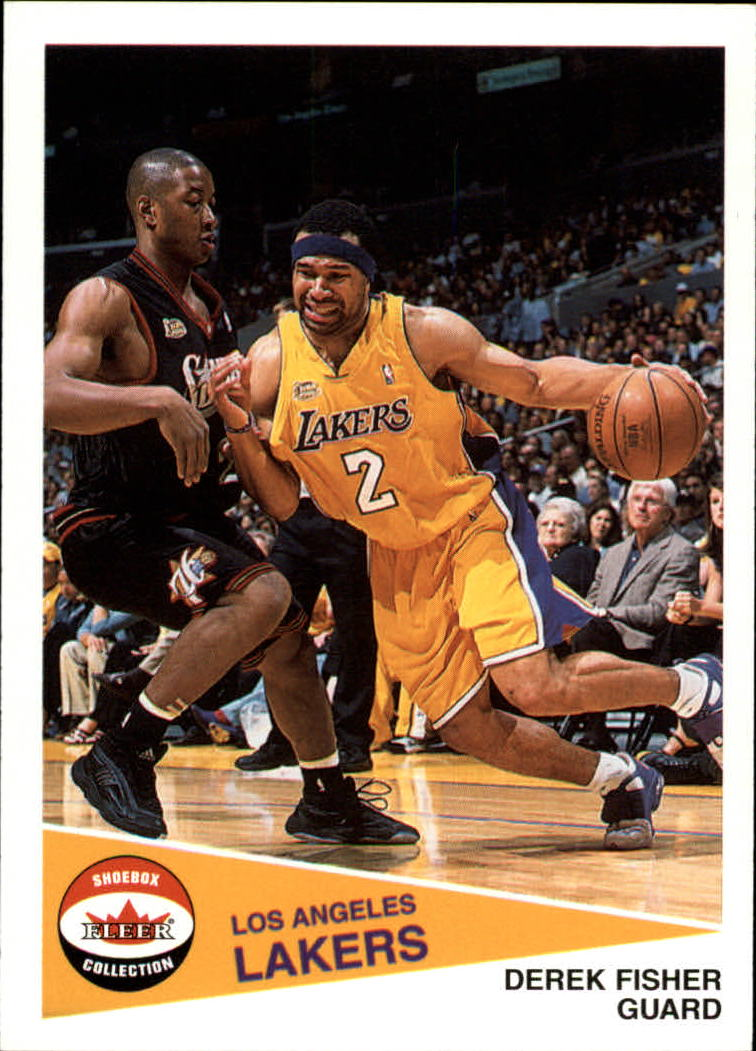 2001-02 Fleer Shoebox #64 Derek Fisher