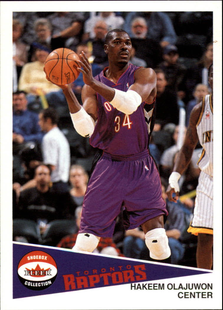 2001-02 Fleer Shoebox #66 Hakeem Olajuwon