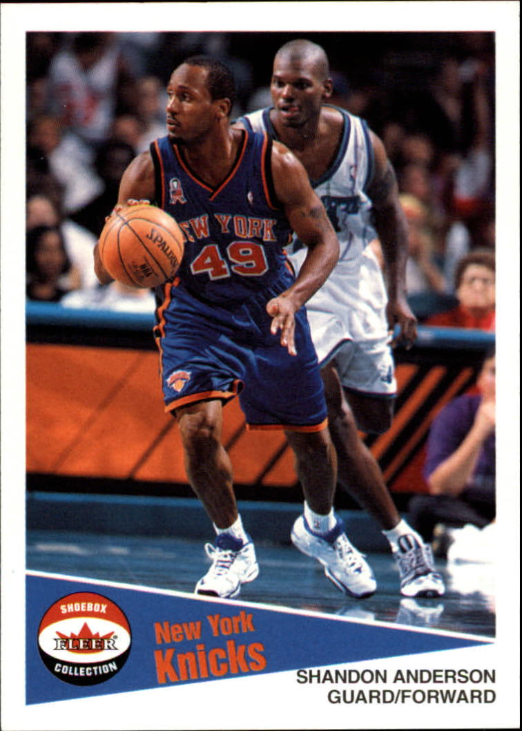 2001-02 Fleer Shoebox #72 Shandon Anderson