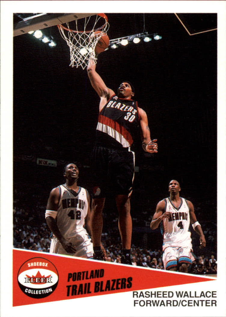 2001-02 Fleer Shoebox #78 Rasheed Wallace